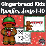 Number Sense Activity 1-10 Gingerbread Kids