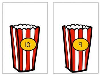 Number Sense 1-10 {Popcorn Theme}