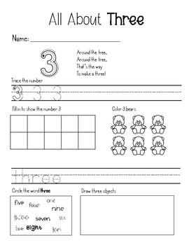 Number Sense 1-10 Practice