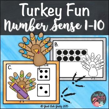 Number Sense Activity 1-10 Turkey Fun