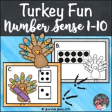 Number Sense Activity 1-10 Turkey Fun
