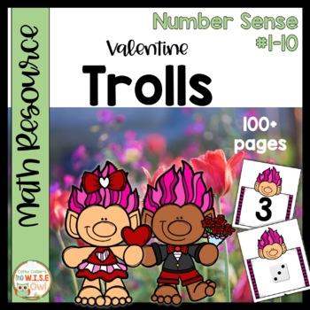 Number Sense #1-10: Valentine Trolls
