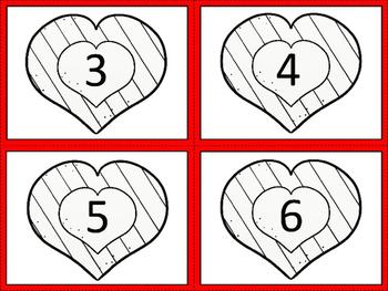 Number Sense 1-10 Valentine's Day