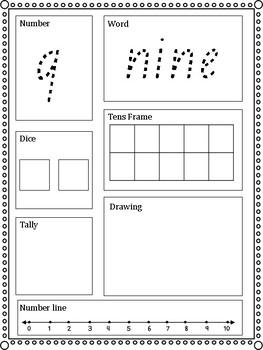 Number Sense 1-10 Worksheets