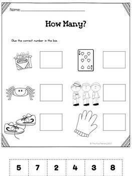 Number Sense 1-12  ~ Center Activities and Worksheets