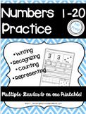 Number Sense 1-20 Printable Worksheets