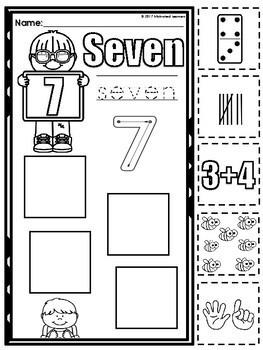 Number Sense 1-20 Back to School