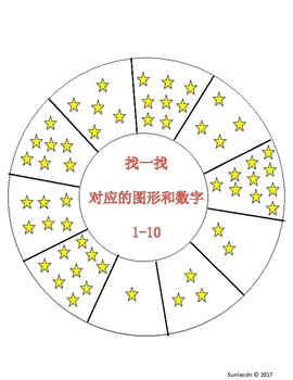 Number Sense 1-20 for Math Center-Chinese Immersion