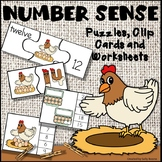 Number Sense 1-20 with Puzzles, Clip Cards and Worksheets