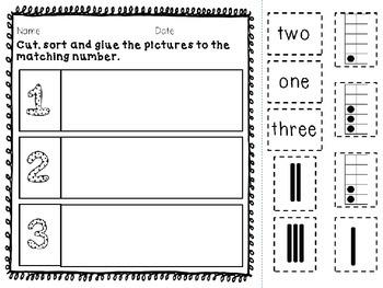 Number Sense 1-30 Interactive Activity Packet