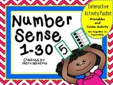 Number Sense 1-30 Interactive Activity Packet