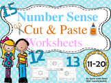 Number Sense (11 - 20) Cut and Paste Worksheets