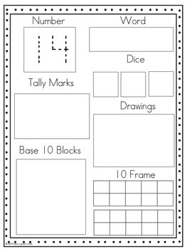 Number Sense (11-20) Worksheets by Tickled Pink in Primary | TpT