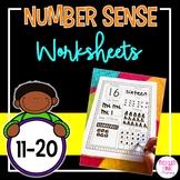 Number Sense Worksheets (teen numbers 11-20)