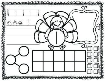 Number Sense Worksheets Thanksgiving
