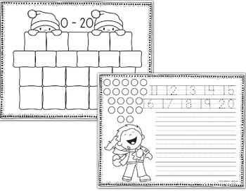 Number Sense Worksheets - Winter