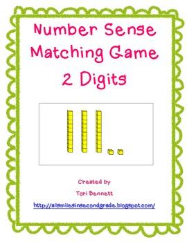 Number Sense 2 Digits Matching Game