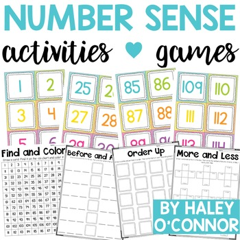 Number Sense Games and Station Activities