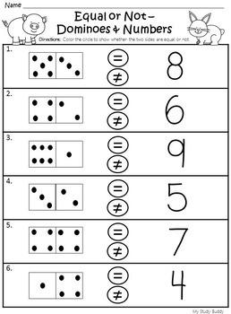 Morning Work - Number Sense (Kindergarten Math)