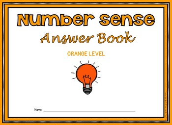 Number Sense Activities: Number Sense Task Cards with Self-Checking Answer Keys