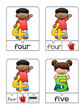 Number Sense Puzzles 1-10