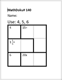 Number Sense: 39 MathDoku Puzzles with Whole Numbers and + - / x