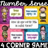 Number Sense 4 Corner Game - Number Sense Samba