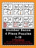Number Representations 4-Piece Puzzles 1-10