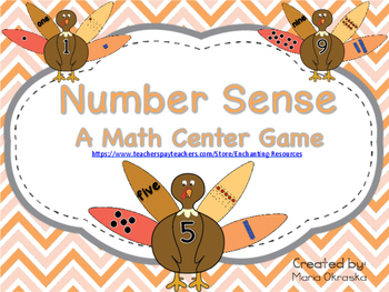 Number Sense ~ A Math Center Game