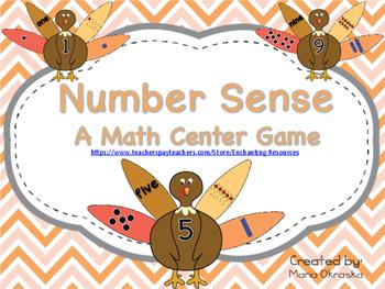 Number Sense ~ A Math Center Game
