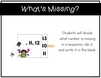 Number Sense Activities 0-20