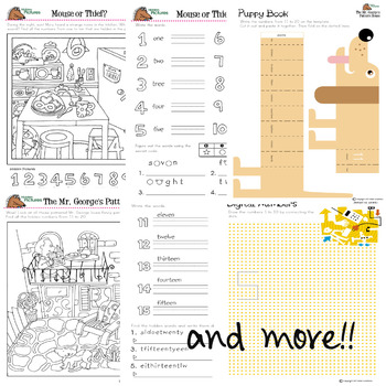 Number Sense Activities with hidden picture puzzles and activities