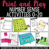 Number Sense Activities Bundle:  Print and Play