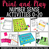 Number Sense Games and Centers to 20 bundle