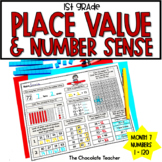 Daily Math CCSS Aligned Place Value Number Sense Worksheets Centers 1st Grade 7