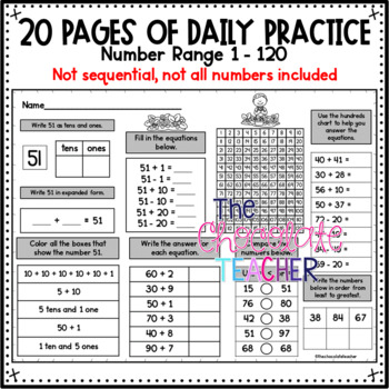 Number Sense Activities Daily Math Month 8 Number and Operations in Base 10