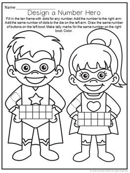 Number Sense Activities for Kindergarten | Build a SUPERHERO