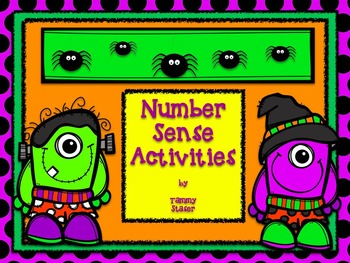 Number Sense Activities -Halloween Theme