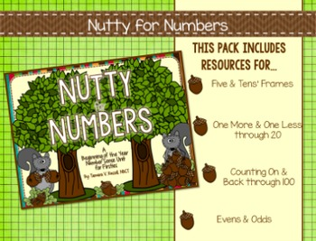 Number Sense Activities for Firsties: Nutty for Numbers