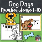 Number Sense Activity 1-10 Dog Days of Summer