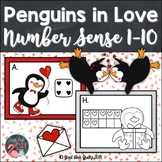 Number Sense Activity 1-10 Penguins in Love