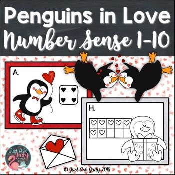 Number Sense Activity 1-10 Penguins in Love