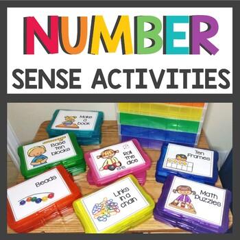 Number Sense Activity Boxes