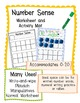 Number Sense Activity Mats or Worksheets