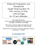 Number Sense Activity Pages [numbers 1-5]