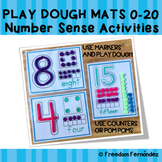 Number Sense Activity-Play Dough Mats 0-20 with Ten-Frames, Dominos and Base Ten