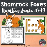 Number Sense Activity Shamrock Foxes Teen Numbers 10-19