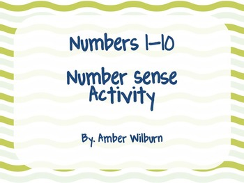 Number Sense Activity incorporating the number line
