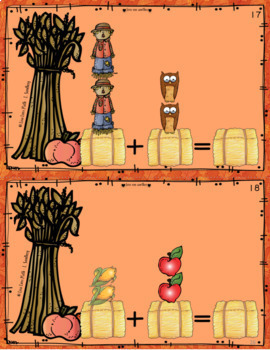 Number Sense Addition Cards 0-5  Fall