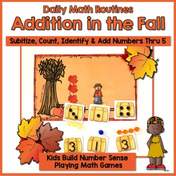 Number Sense:  Addition Cards 0-5 ~ Fall